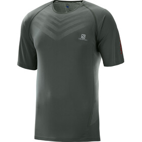 Salomon Sense Pro Hardloopshirt korte mouwen Heren grijs
